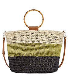 I.N.C. Willoww Stripe Colorblock Tote, Created for Macy's