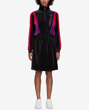 ADIDAS | Adidas Originals Velour Colorblocked Dress | Goxip