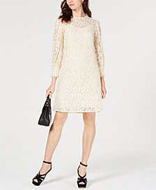 MICHAEL Michael Kors Metallic Rose Lace Dress