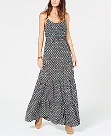 MICHAEL Michael Kors Tiered Panel Sleeveless Maxi Dress