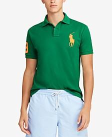 Men's Big Pony Custom Slim Fit Mesh Polo, Created for Macy's
