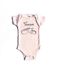 BonBonBaby Apparel Organic Cotton Cheesesteak One-Piece for Baby Boys or Girls