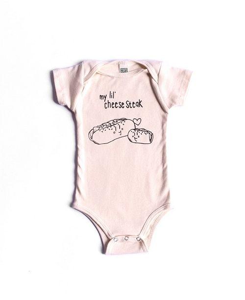 e60a1230e ... BonBonBaby Apparel Organic Cotton Cheesesteak One-Piece for Baby Boys  or Girls ...