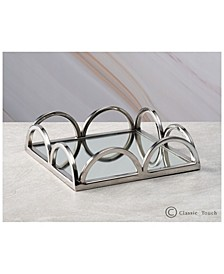 """8"""" Mirrored Napkin Holder With Side Bars"""