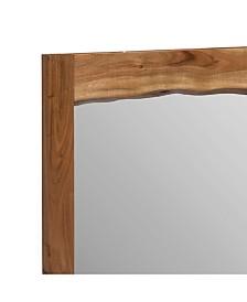 "Alpine Natural Live Edge Wood 24"" Mirror"