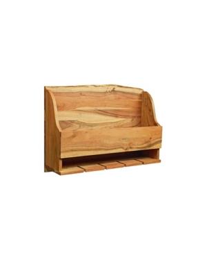 Image of Alaterre Furniture Alpine Natural Brown Live Edge Wine Rack Wood