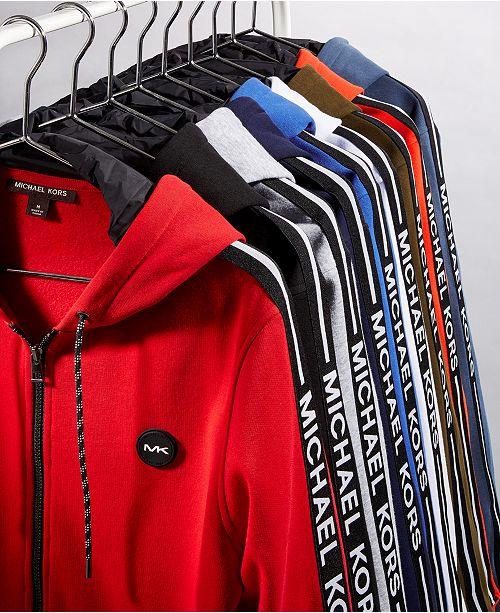 116a131cfd Michael Kors Men's Logo Fleece Full-Zip Hoodie & Reviews - Coats ...