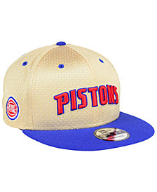 New Era Detroit Pistons Champagne 9FIFTY Snapback Cap