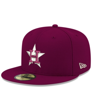 New Era Houston Astros Re-dub 59fifty Fitted Cap In Cardinal Red