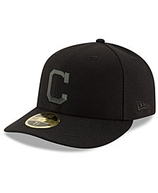 New Era Cleveland Indians Triple Black Low Profile 59FIFTY Fitted Cap