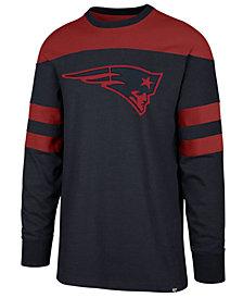 '47 Brand Men's New England Patriots Gunner Crew Long Sleeve T-Shirt