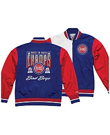 Mitchell & Ness Men's Detroit Pistons History Warm Up Jacket