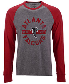 '47 Brand Men's Atlanta Falcons Retro Encircled Long Sleeve Club Raglan T-Shirt