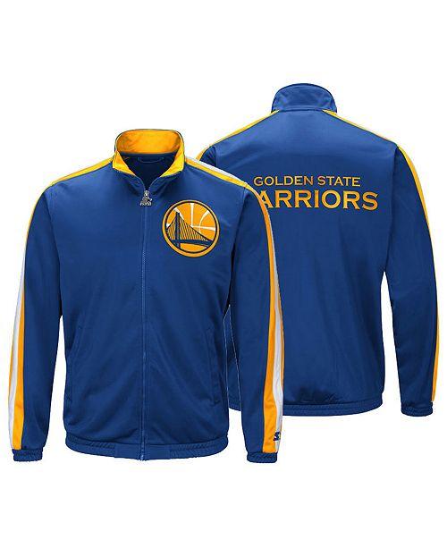 best service 6ced8 95245 ... G-III Sports Men s Golden State Warriors The Challenger Starter Track  Jacket ...