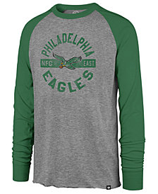 '47 Brand Men's Philadelphia Eagles Retro Encircled Long Sleeve Club Raglan T-Shirt