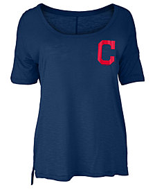 5th & Ocean Women's Cleveland Indians Relaxed Scoop T-Shirt