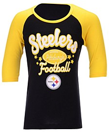 Pittsburgh Steelers Raglan T-Shirt, Girls (4-16)