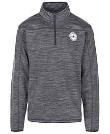 Authentic NFL Apparel Men's Dallas Cowboys Odin Quarter-Zip Pullover