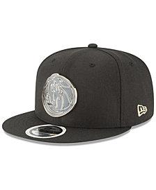 New Era Dallas Mavericks Black Enamel 9FIFTY Snapback Cap