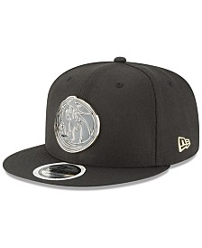 New Era Dallas Mavericks Black Enamel 9FIFTY Snapback Cap