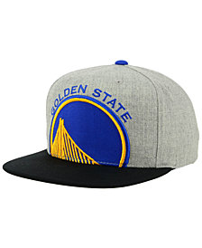 Mitchell & Ness Golden State Warriors Cropped Heather Snapback Cap
