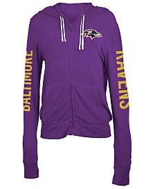 5th & Ocean Women's Baltimore Ravens Hooded Sweatshirt