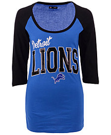 5th & Ocean Women's Detroit Lions Colorblocked Raglan T-Shirt