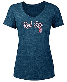 cf359e499 5th   Ocean Women s Boston Red Sox Tri-Blend V-Neck T-Shirt
