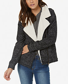 O'Neill Latte Fleece-Lined Moto Jacket