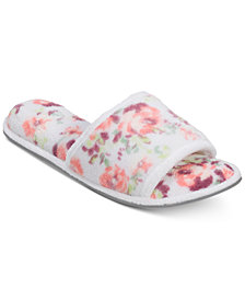 Dearfoams Microfiber Terry Slide with Quilted Vamp