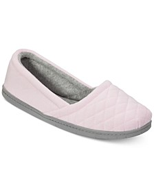 Quilted Microfiber Velour Slippers, Online Only