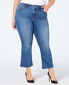 Style & Co Plus Size Ankle Boot-Cut Jeans, Created for Macy's