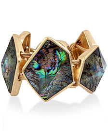 Robert Lee Morris Soho Gold-Tone Abalone-Look Bangle Bracelet