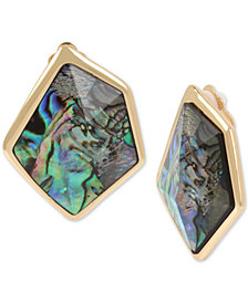 Robert Lee Morris Soho Gold-Tone Abalone-Look Clip-On Earrings