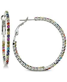 Giani Bernini Cubic Zirconia Rainbow Hoop Earrings in Sterling Silver, Created for Macy's