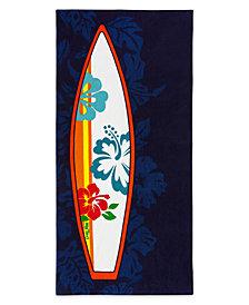 Hang Ten Hibiscus Surfboard Beach Towel