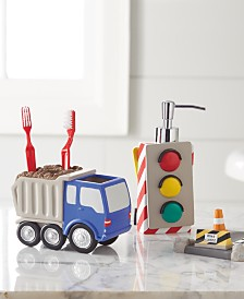 Dream Factory Trains and Trucks Bath Set