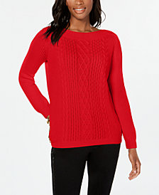 Tommy Hilfiger Cable-Knit Sweater, Created for Macy's