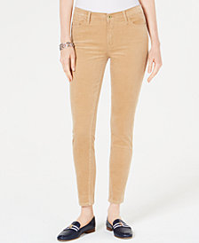 Tommy Hilfiger Corduroy Skinny Pants, Created for Macy's