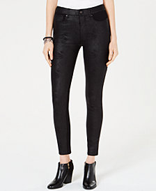 Tommy Hilfiger Coated Finish Skinny Pants, Created for Macy's