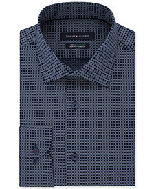 Tommy Hilfiger Men's Slim-Fit TH Flex Non-Iron Supima Stretch Pattern Dress Shirt