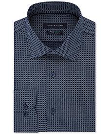 Tommy Hilfiger Men's Slim-Fit TH Flex Non-Iron Supima Stretch Pattern Dress Shirt