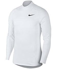 Nike Men's Pro Terry Mock-Neck Top