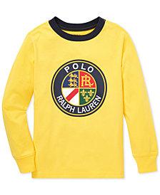 Polo Ralph Lauren Toddler Boys Logo Graphic Long-Sleeve Cotton T-Shirt
