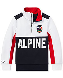 Polo Ralph Lauren Toddler Boys Downhill Skier Double-Knit Half-Zip Pullover