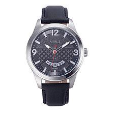 Men's ESQ0080 Stainless Steel Watch, Black Dial, Date Window