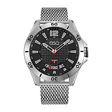 Men's ESQ0181 Stainless Steel Bracelet Watch with Black Dial and Date Window