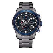 Men's ESQ0060 Stainless Steel Gun Metal IP Chronograph Bracelet Watch, Blue Dial