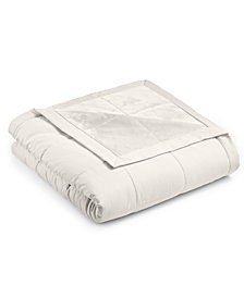 Martha Stewart Collection Down Alternative Reverse to Plush King Blanket, Created for Macy's