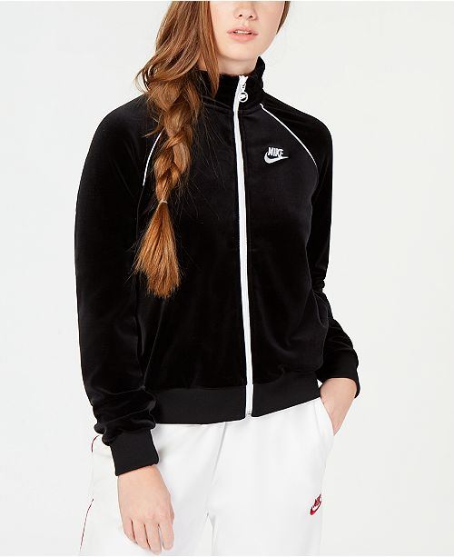 Nike Sportswear Velour Track Jacket   Reviews - Jackets   Blazers ... 9dad82155